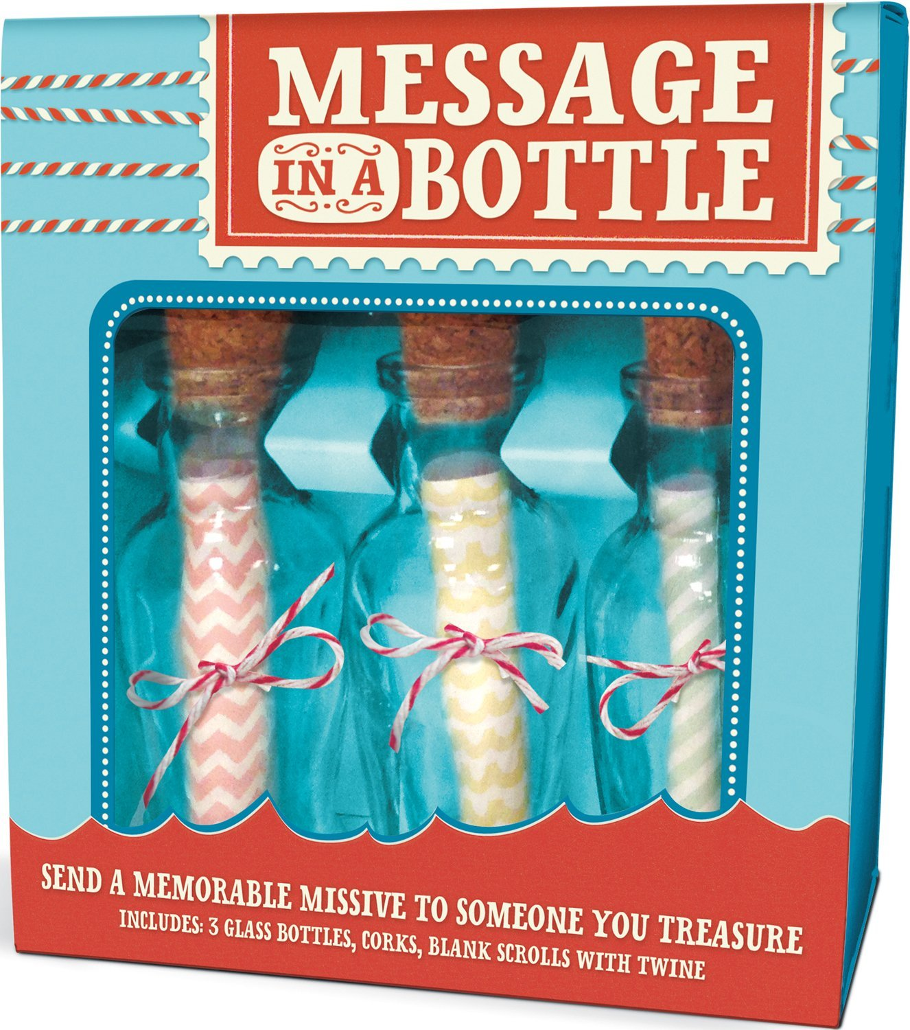 Write them a meaningful message in a bottle. - $