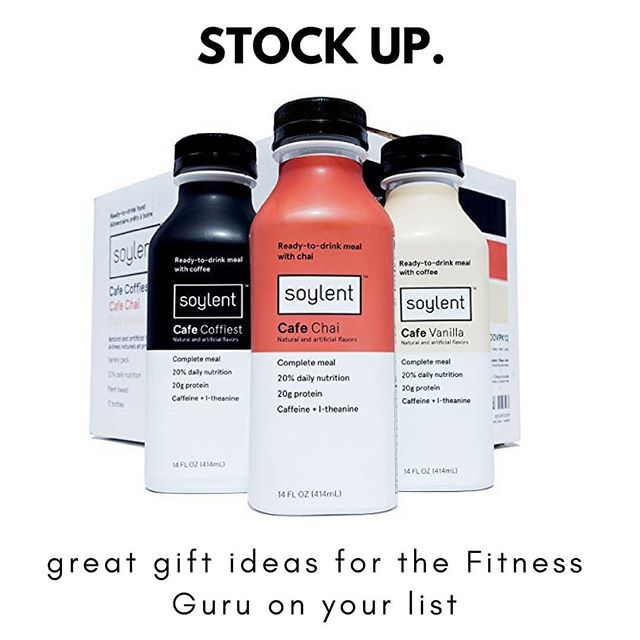 Stock up on gifts for the Fitness Guru with Red Letter Gift! . . . . . #thefemalebrain #soylent #fitnessguru #redlettergift #active #onthego #convenient