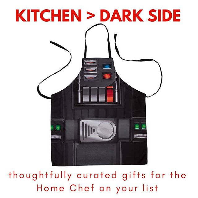 Home Chef gifts with personality! Tag a chef who would wear this apron! . . . . . #darthvader #starwars #homechef #apron #kitchen #cooking #cheflife #cookathome