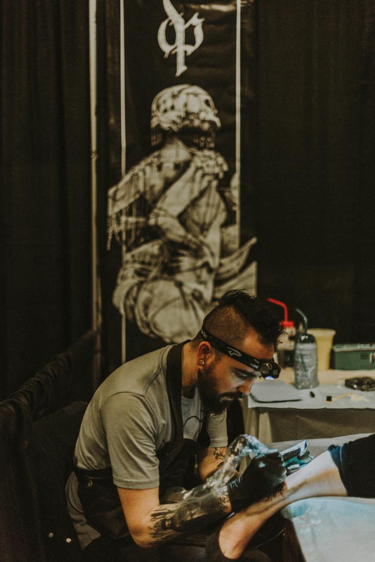 Austin TX tattoo Artist  David Poe .