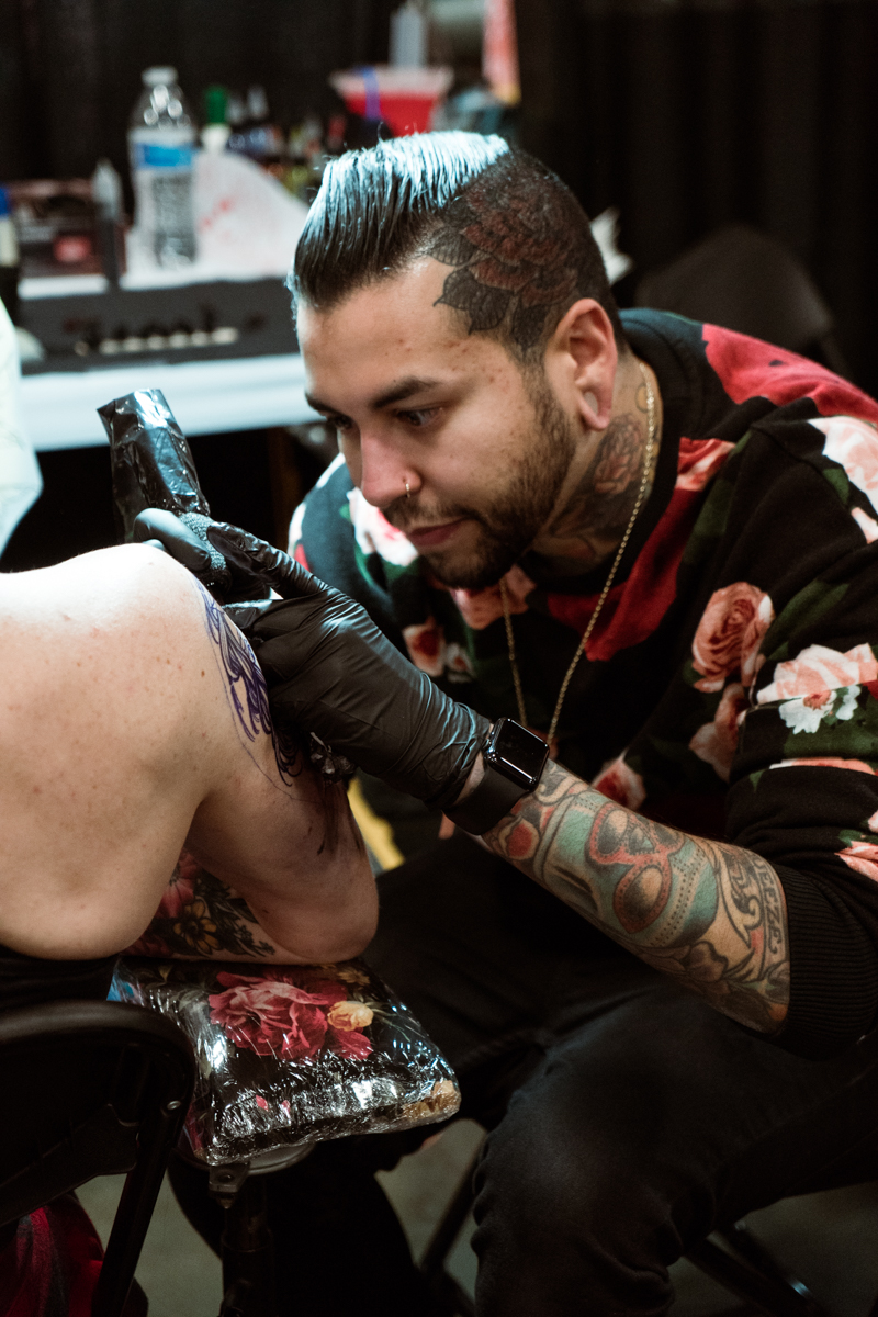 Black Mass Tattoo artist and co-owner Tony Colón