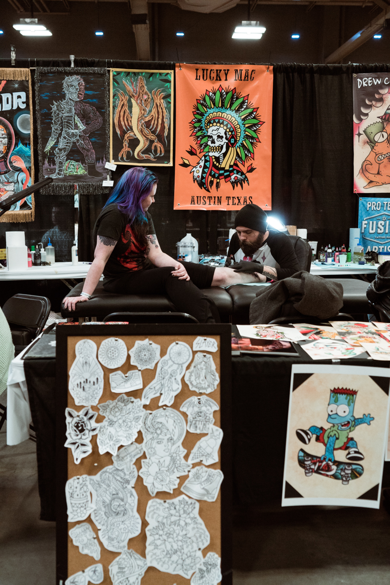 There was a lot of great pieces up for grabs from Lucky Mac who tattoos out of Amillion Tattoo in Austin