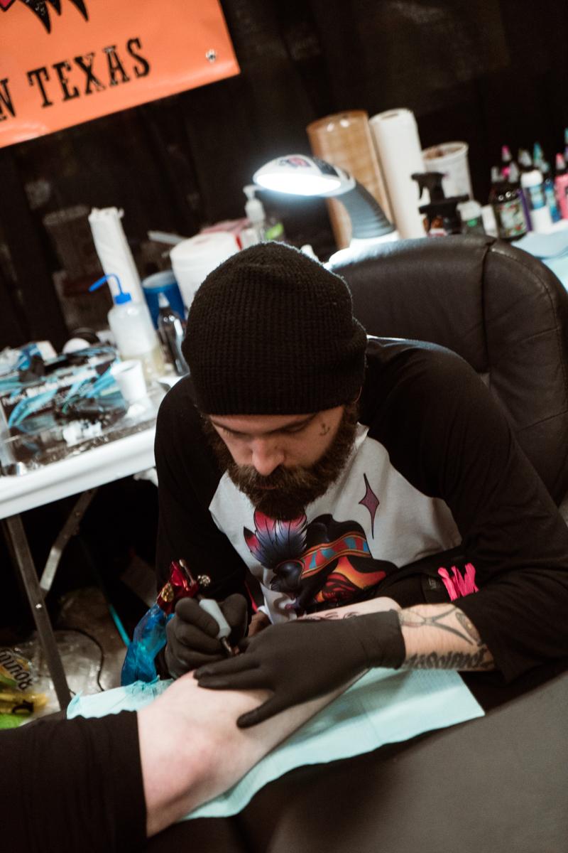 Lucky Mac of Amillion Tattoo in Austin