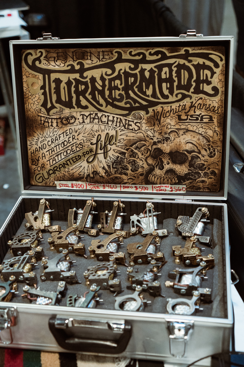 We fell in love with the detailed engravings on these Turnermade tattoo machines from Wichita, Kansas