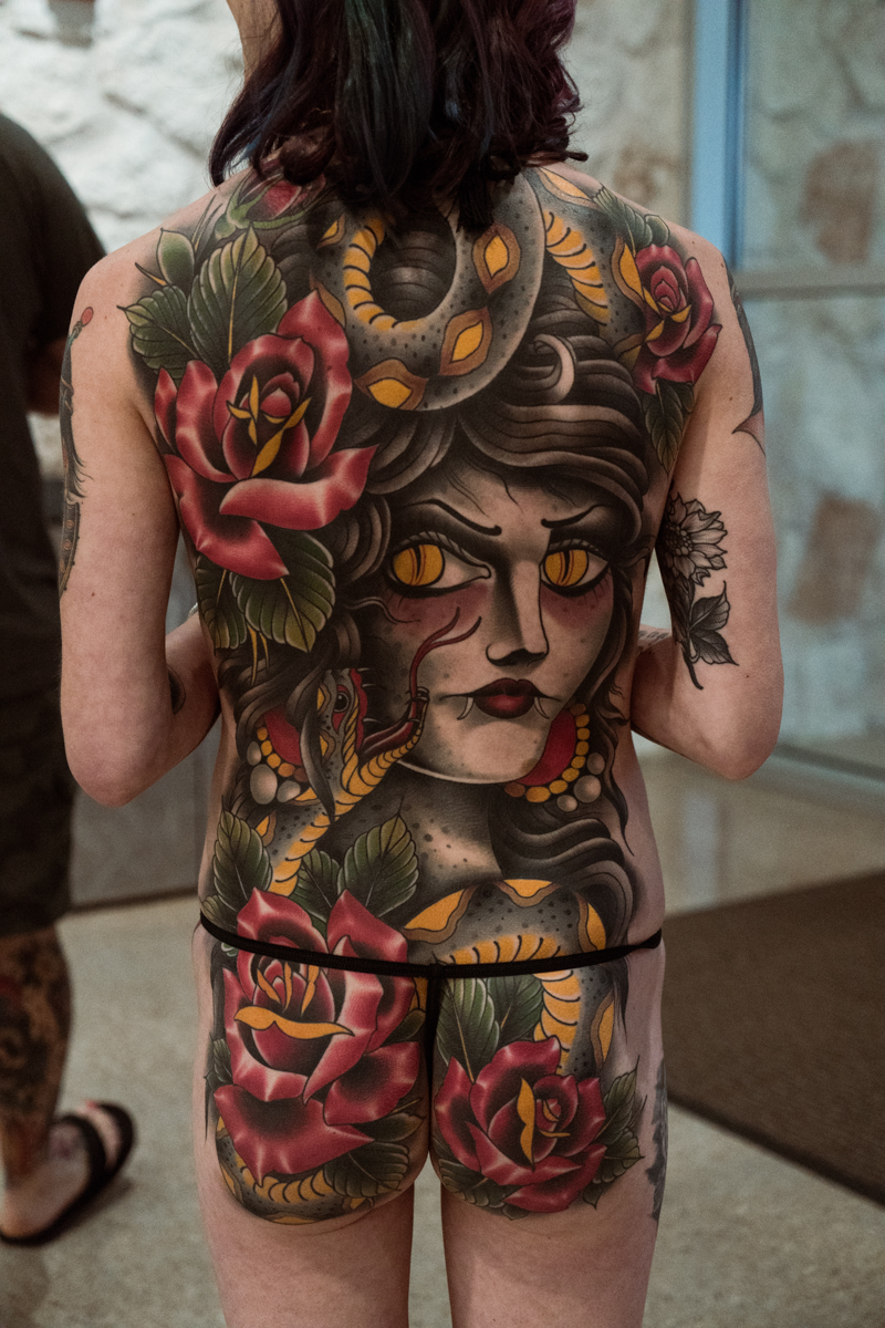 A beautiful back piece waiting to be entered into the contests