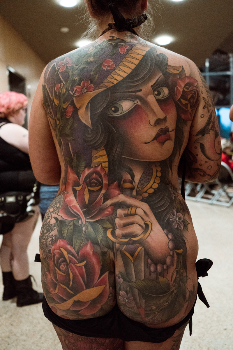 Another impressive back piece. With so much great work, we have no envy of the judges jobs!