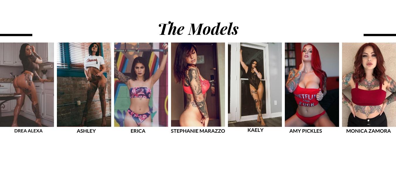 Workshop Models  Drea ,  Ashley ,  Erica ,  Stephanie ,  Kaely ,  Amy,   Monica
