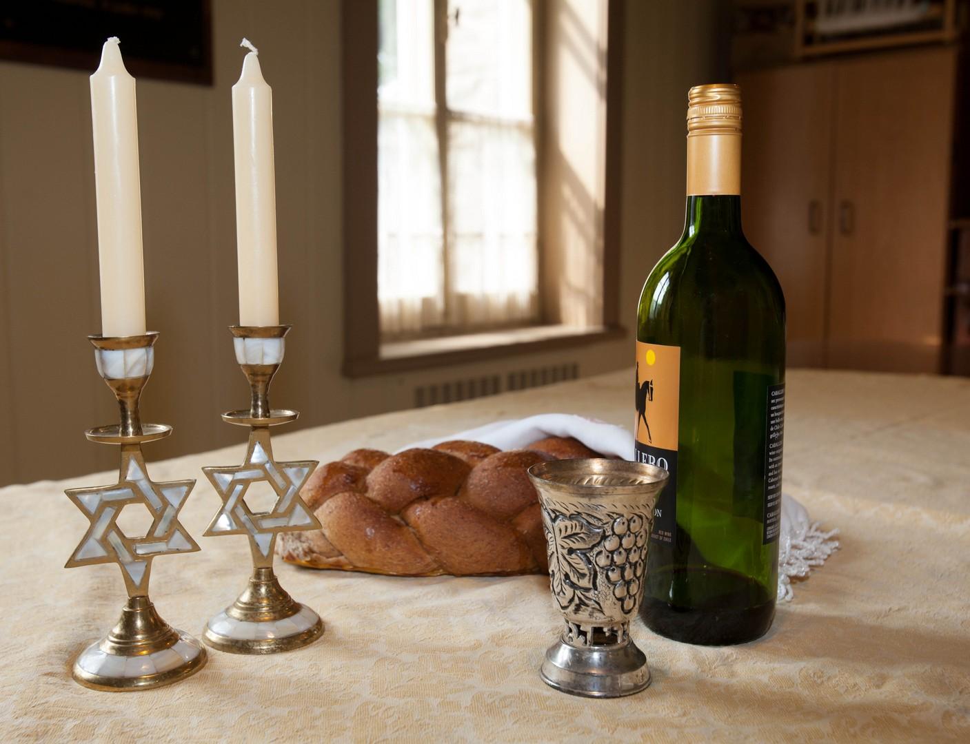 Sabbath candlesticks and wine cup Collection: Musée régional de Vaudreuil-Soulanges