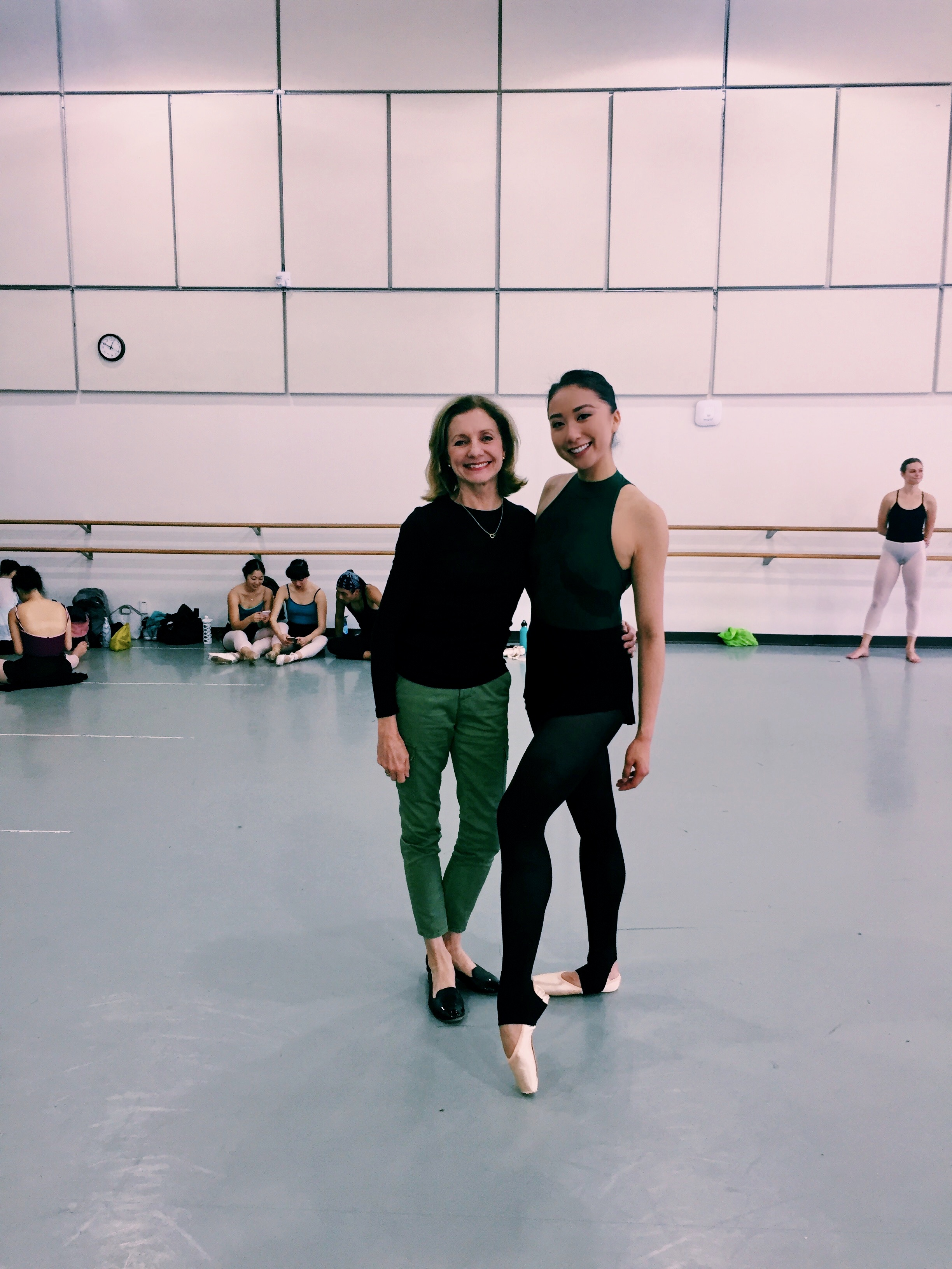 with ballet professor, Diane Diefenderfer