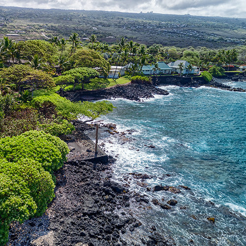 Ke Alohi Kai is one of the premier oceanfront developments in Kailua-Kona encompassing 15 lots of which 7 are oceanfront. Lot number 6 is considered to be a premium oceanfront lot for its outstanding views!  View Listing    →