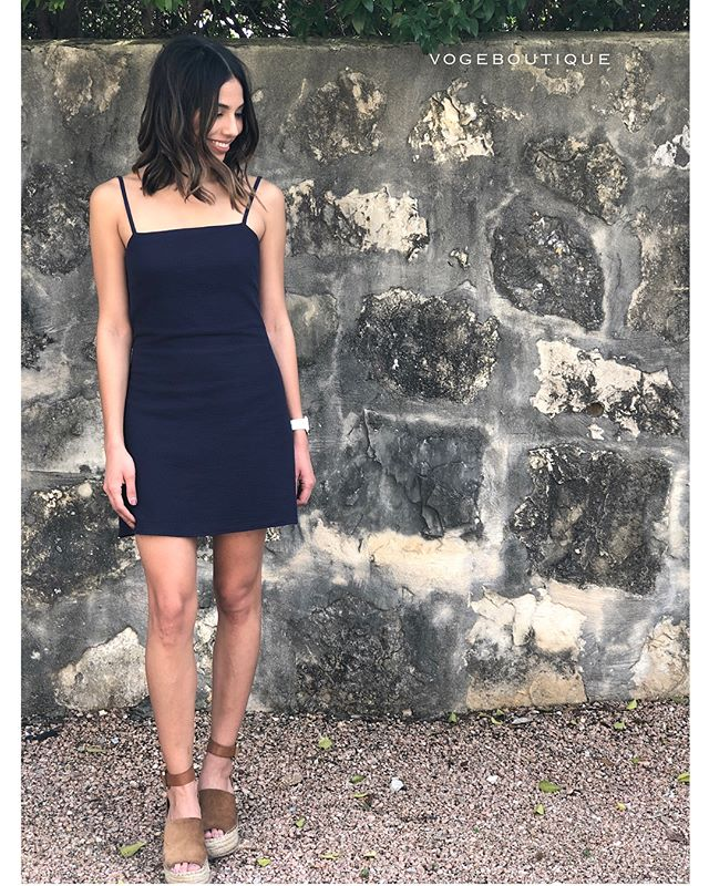 Spring break is almost here — so don't forget to add ' KERRI ' to your carry on | ft. our woven mini dress with back tie | navy & white | XS/S/M | $88 | SA ONLY     Get this adorable dress by sending us a DM, or iMessage SHOPVOGE@GMAIL.COM!!! #vogeboutique #shopvoge #sanantonioboutique #newarrivals #vogeantonio #satx #readyforspring #vogelovesdresses #dressoftheday