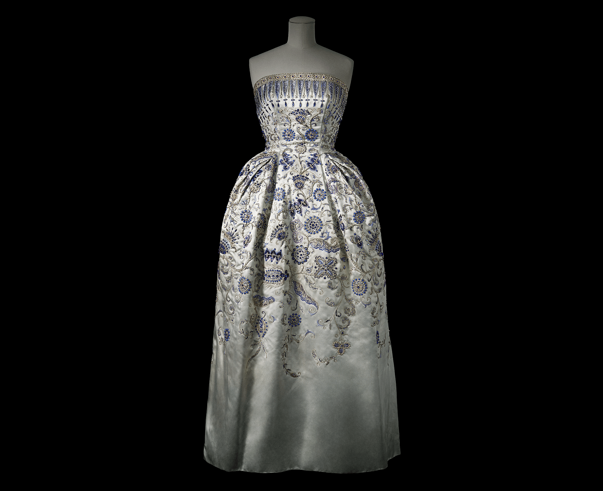 The curator, Alexandra Palmer, cleverly brought it home by scouting dresses owned by Canadian fashionistas in the early 50s -