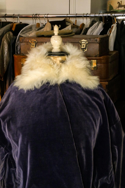 Zwieback Blue Velvet Coat Vienna c. 1913