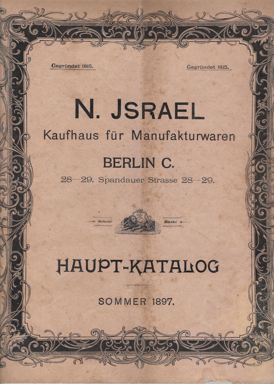 N.Israel Summer 1897 Front