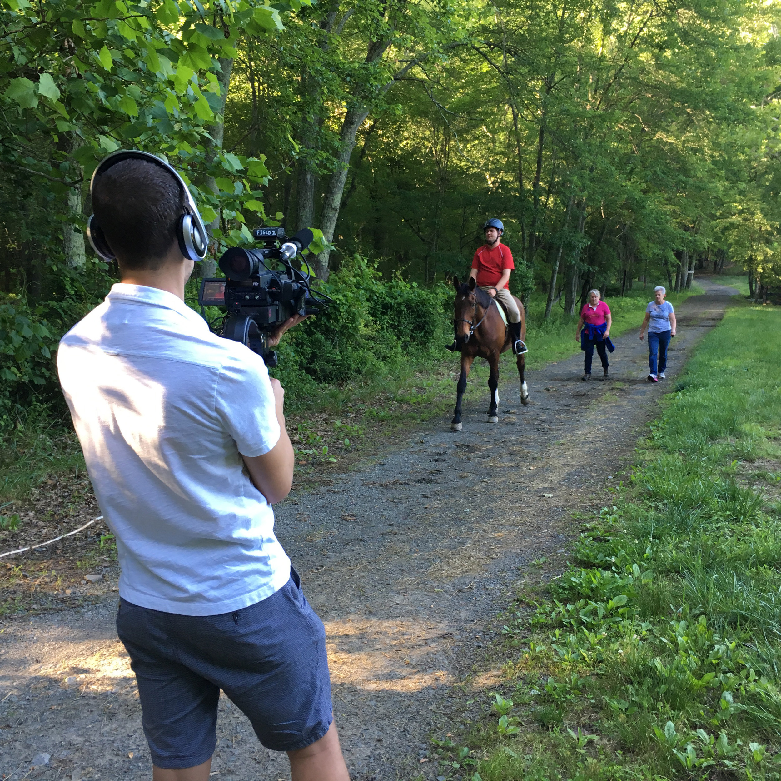 Filming our subject Jake on a trail ridel (from   Life in Strides  )