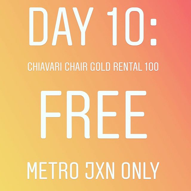 Birthday Celebration #10 Complimentary CHP/PWC clients only. Not included if you already have chiavari chairs in your package.  Rules:  1.Must follow @pwcrentals @castlehillchp @perfectionwed  2.Must Like the Post 3.Comment your event date!  Drawing will close at 2:00 p.m. today! Turn on your posting alerts! View all live post and stories! I will post several promotions and free items all day, everyday until July 31, 2019!  A lucky winner will be randomly picked and announced today!  Goodluck! #pwcjulybdaycelebration