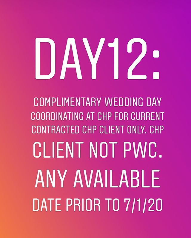 Birthday Celebration #12:Wedding Day Coordinating Complimentary  Metro JXN area only!  Rules:  1.Must follow @pwcrentals @castlehillchp @perfectionwed  2.Must Like the Post 3.List your favorite feature of CHP!  Drawing will close at 2:00 p.m. today! Turn on your posting alerts! View all live post and stories! I will post several promotions and free items all day, everyday until July 31, 2019!  A lucky winner will be randomly picked and announced today!  Goodluck! #pwcjulybdaycelebration