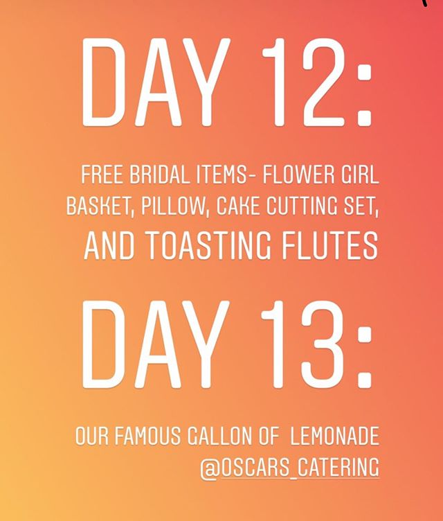 If you've never had our FAMOUS Lemonade, then you might want to jump on it! Sooooo good! Actually Day 13 and 14: We've been so busy, we missed a day and you guys let me! Rules: Please read the rules!  1.Must follow @pwcrentals @castlehillchp @perfectionwed  2.Must Like the Post  Drawing will close at 2:00 p.m. today! Turn on your posting alerts! View all live post and stories! I will post several promotions and free items all day, everyday until July 31, 2019!  A lucky winner will be randomly picked and announced today!  Goodluck! #pwcjulybdaycelebration