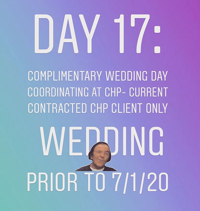 Rules: Please read the rules!  1.Must follow @pwcrentals @castlehillchp @perfectionwed  2.Must Like the Post  3.Quote something from The Vlog Top Three Things to look for in an Event Planner l, Andrea or Tricie Vlog!  Drawing will close at 8:00 p.m. today! Turn on your posting alerts! View all live post and stories! I will post several promotions and free items all day, everyday until July 31, 2019!  A lucky winner will be randomly picked and announced today!  Goodluck! #pwcjulybdaycelebration