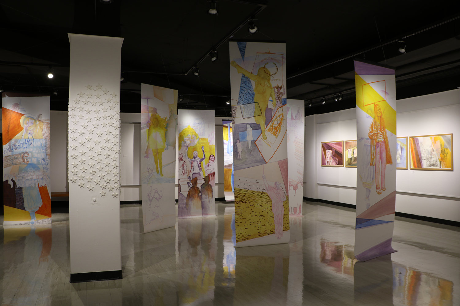 Personal is Still Political , Installation View, Huff Gallery at Spalding University, Louisville, KY, March 2 - 31, 2018