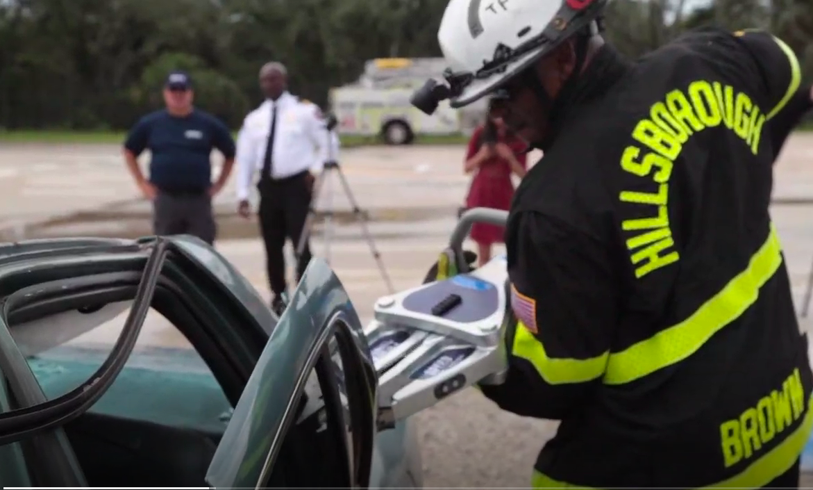 Firefighters test new 'Jaws of Life'