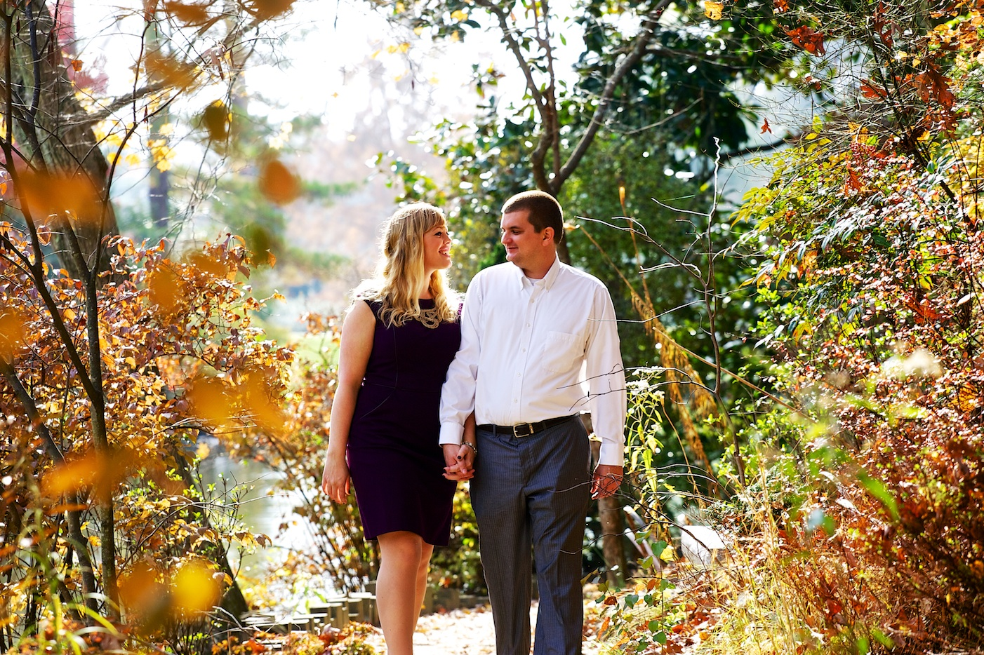 Duke Gardens Engagement Photography