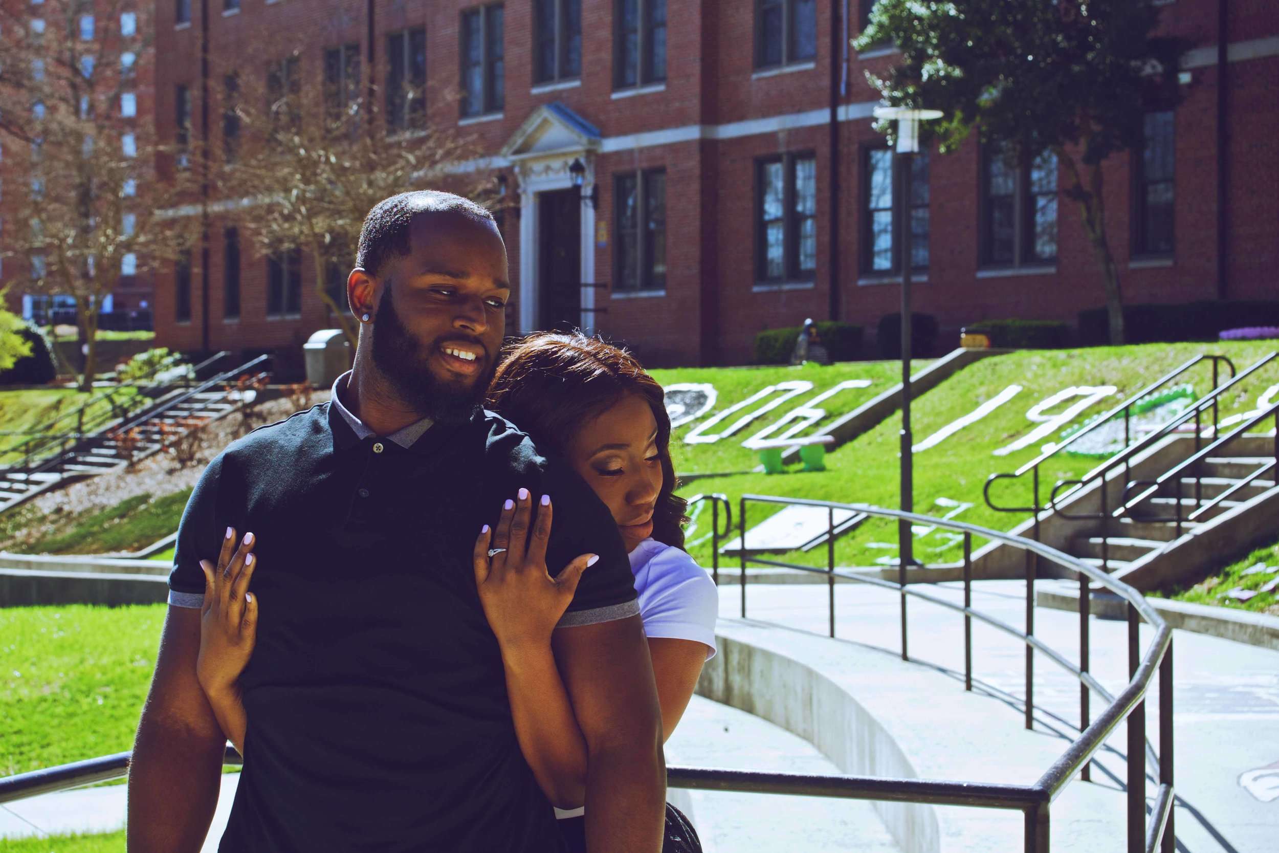 Durham NCCU Engagement Photography