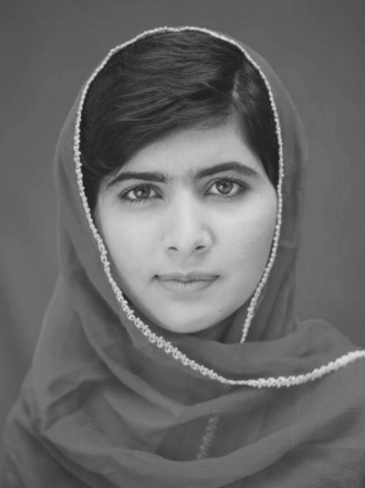 """Malala Yousafzai    """"I truly believe the only way we can create global peace is through not only educating our minds, but our hearts and our souls."""""""