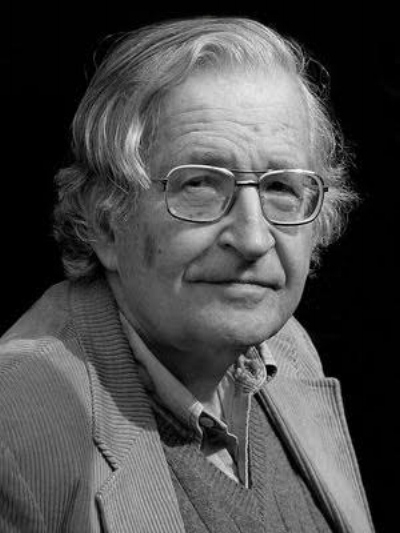 "Noam Chomsky     ""Everybody's worried about stopping terrorism. Well there's a really easy way: stop participating in it."""