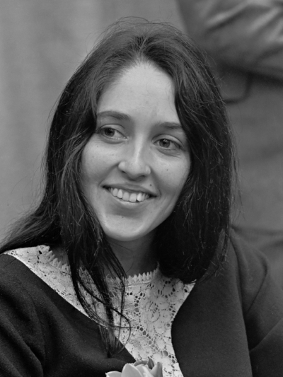 "Joan Baez    ""I would say that I'm a nonviolent soldier. In place of weapons of violence you have to use your mind, your heart, your sense of humor, every faculty available to you... because no one has the right to take the life of another human being."""