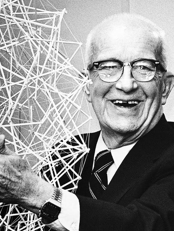 "Buckminster Fuller     ""It is now highly feasbile to take care of everybody on Earth at a higher standard of living than any have ever known. It no longer has to be you or me. Selfishness is unnecessary. War is obsolete. It is a matter of converting the high technology from weaponry to livingry."