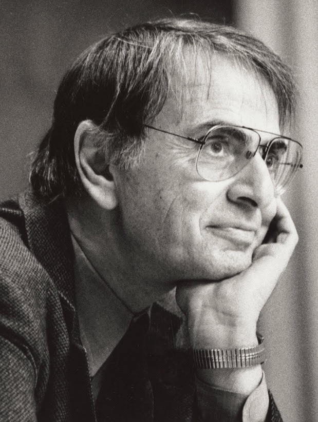 """Carl Sagan   """"The sky calls to us. If we do not destroy ourselves, we will one day venture to the stars."""""""