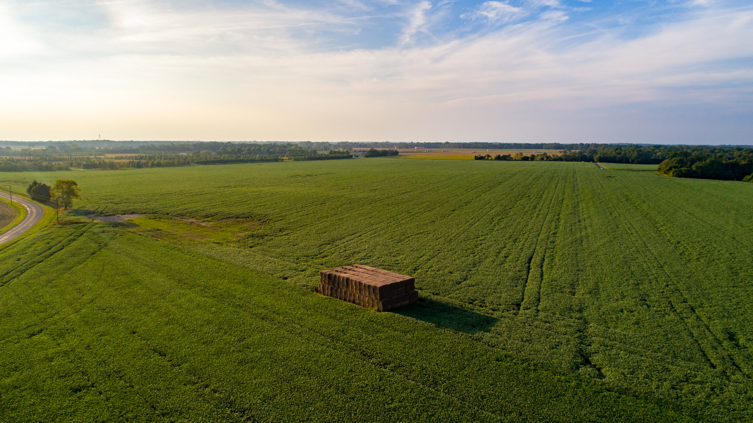 Aerial photo of a farm listing in the Town of Galena on Maryland's Eastern Shore