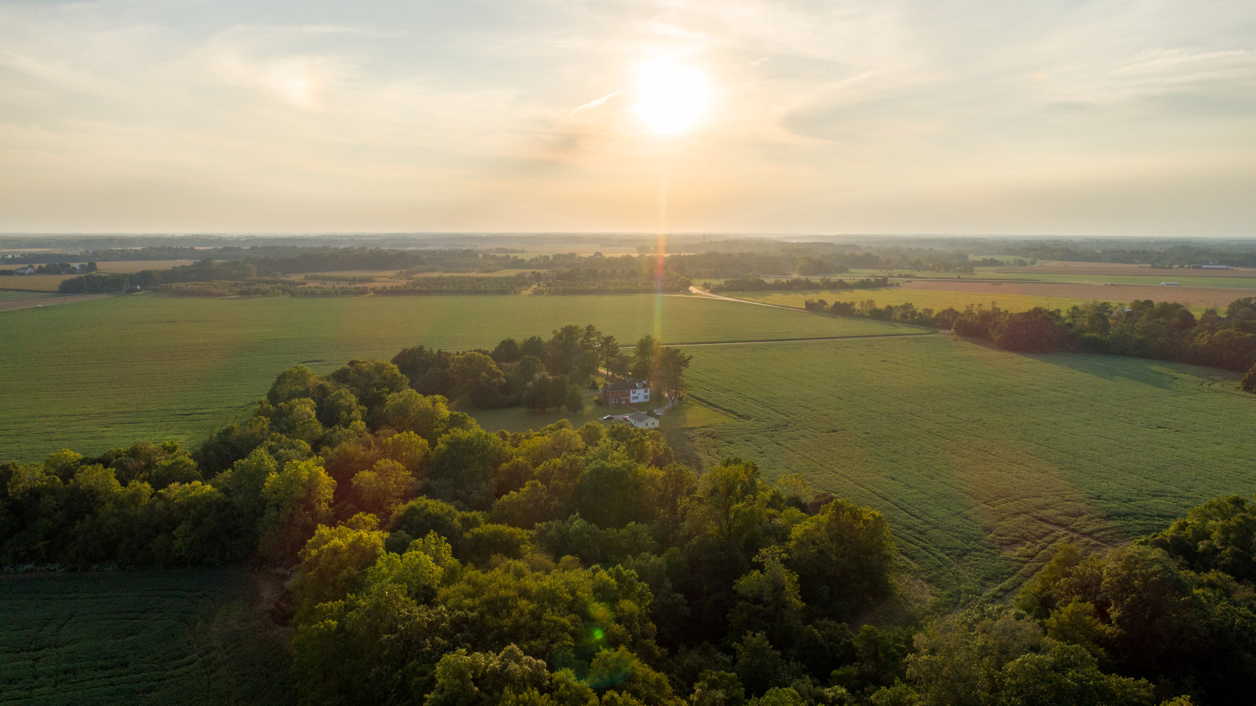Aerial photo of a real estate shoot at a farm in Galena on Maryland's Eastern Shore