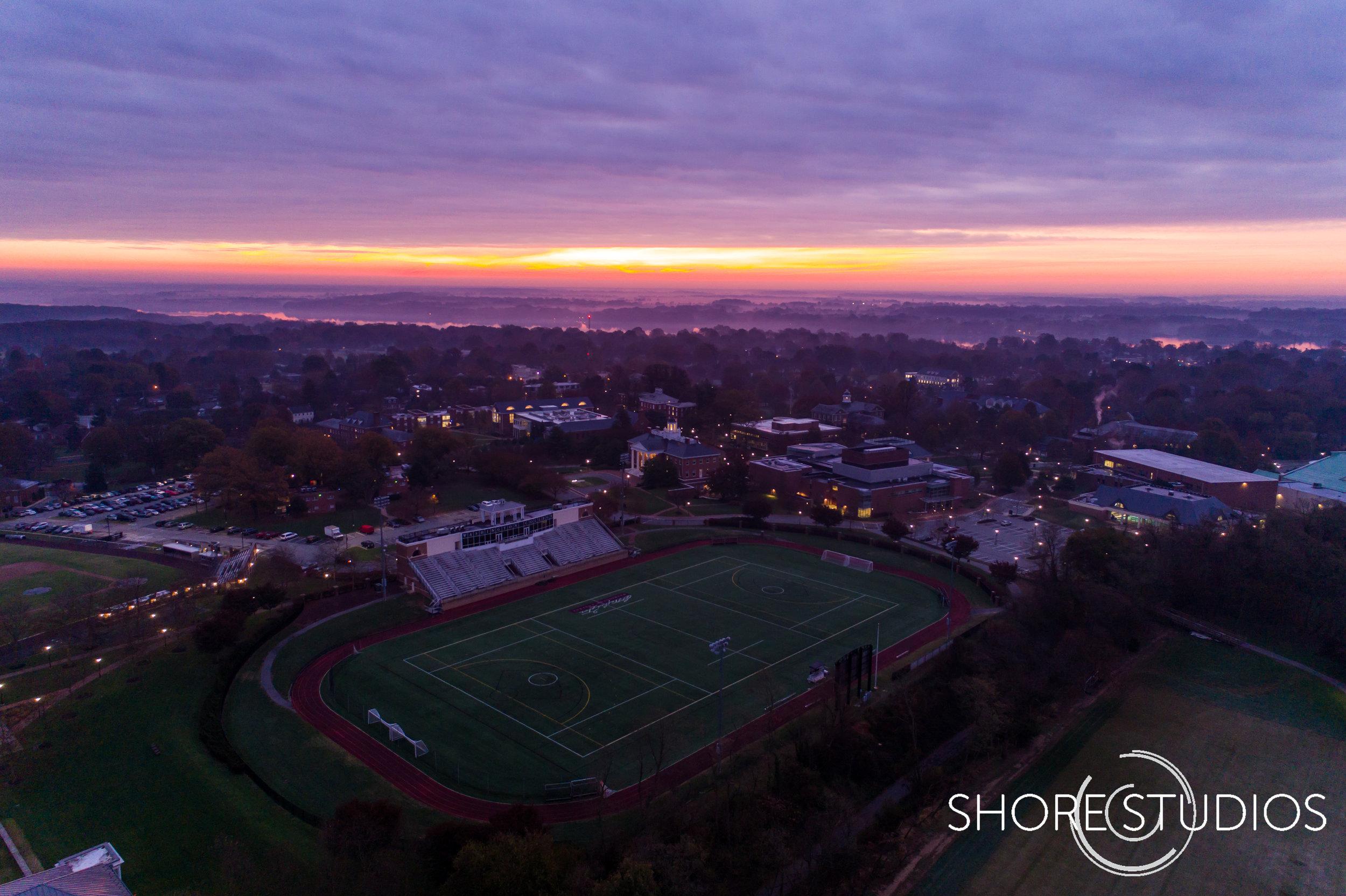 Washington College Sunrise Dawn
