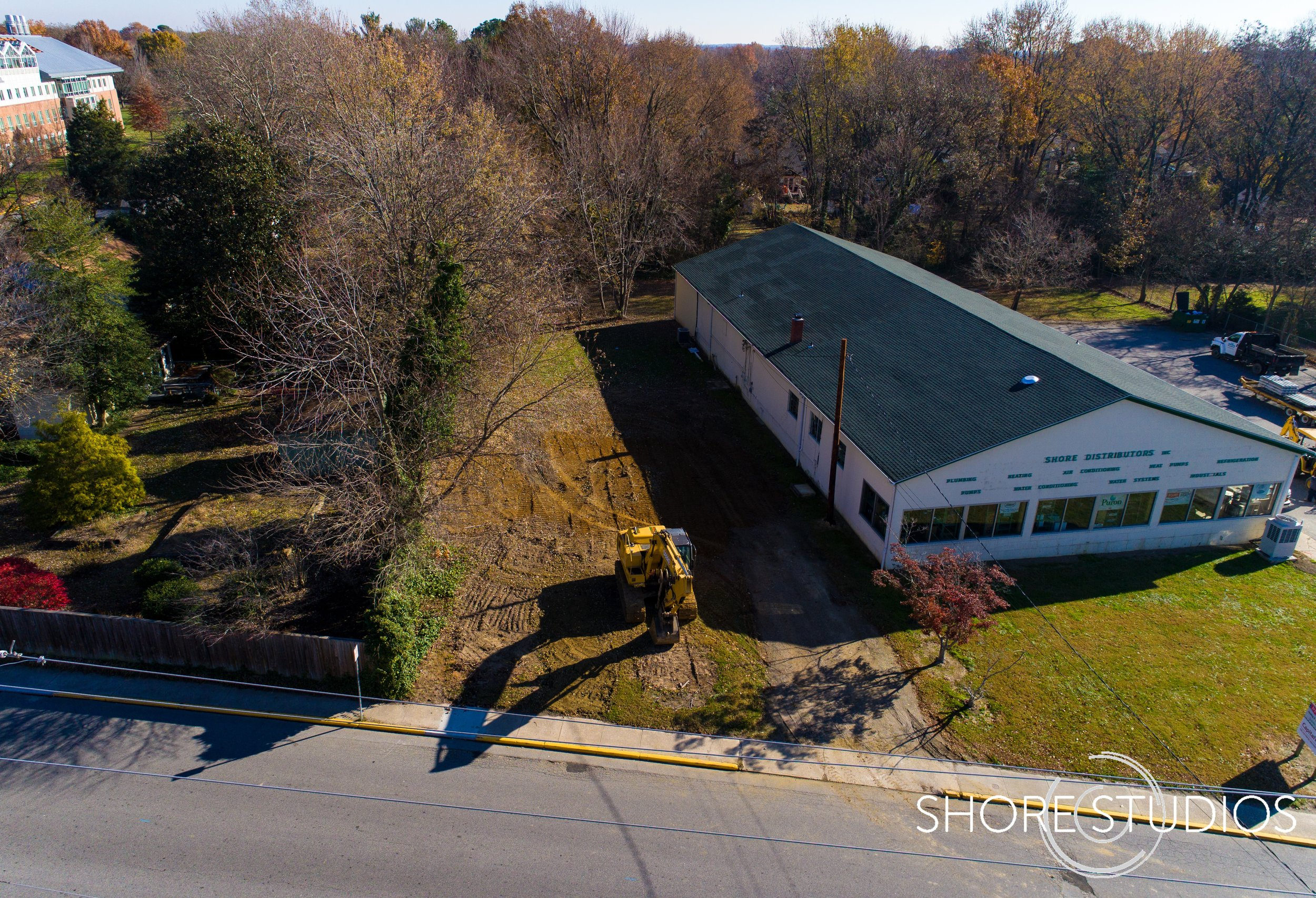 Aerial photo of Shore Distributors expansion