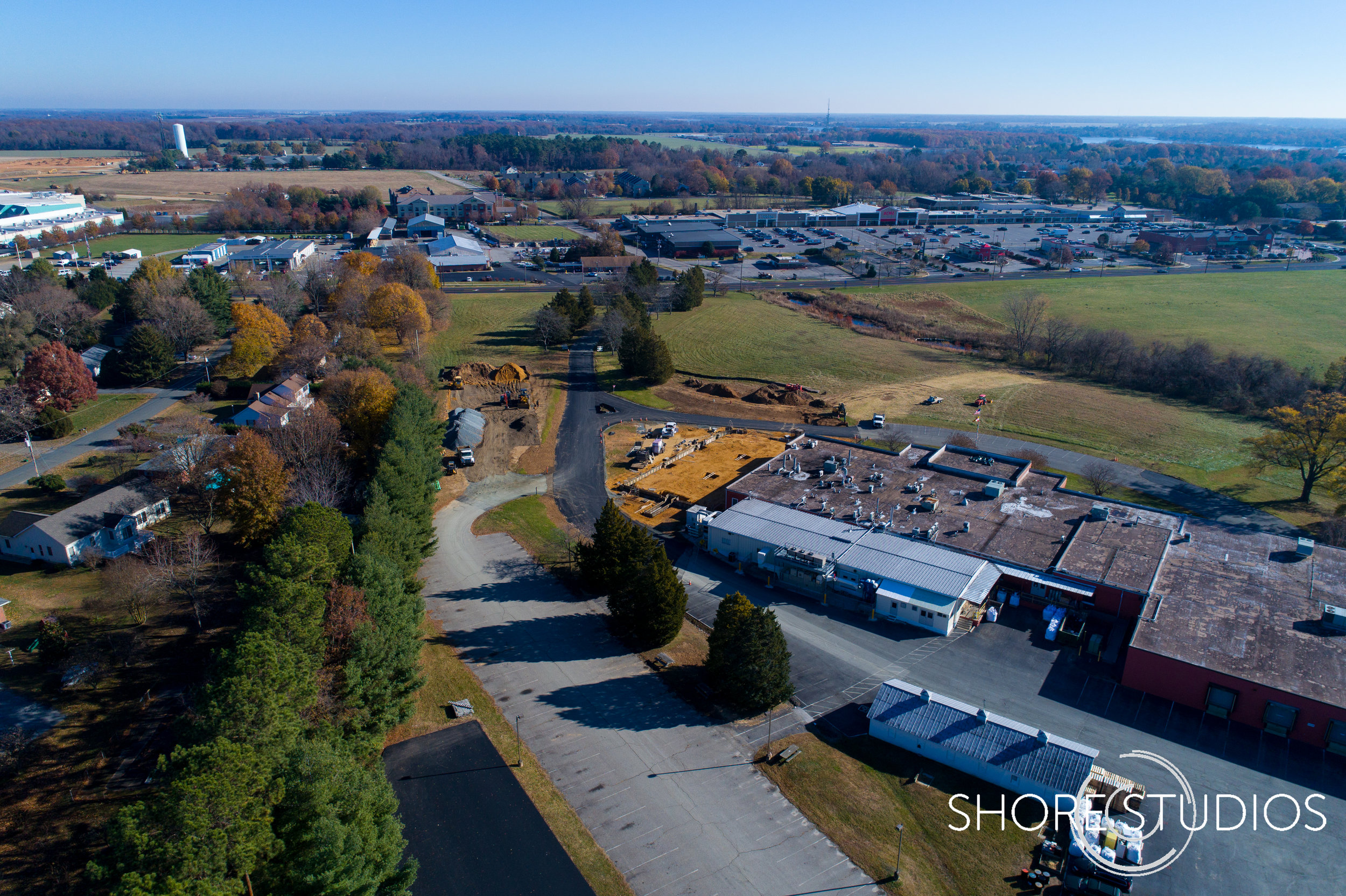 Aerial photo of LaMotte Company expansion