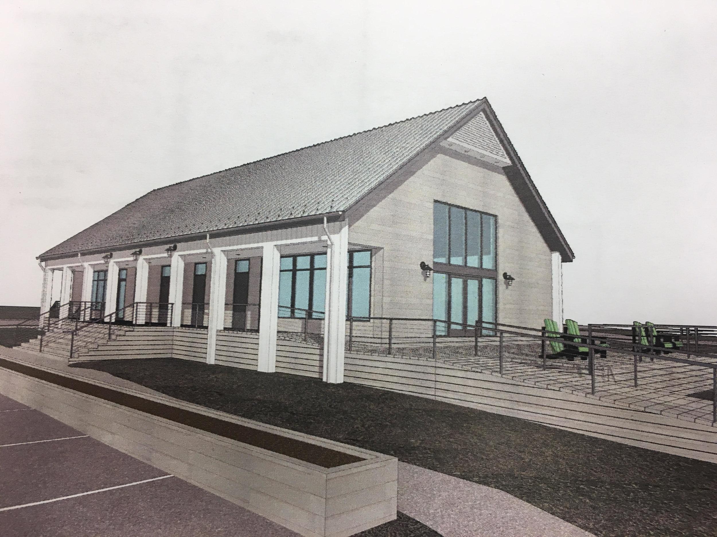 Rendering of Marina Interpretive Center
