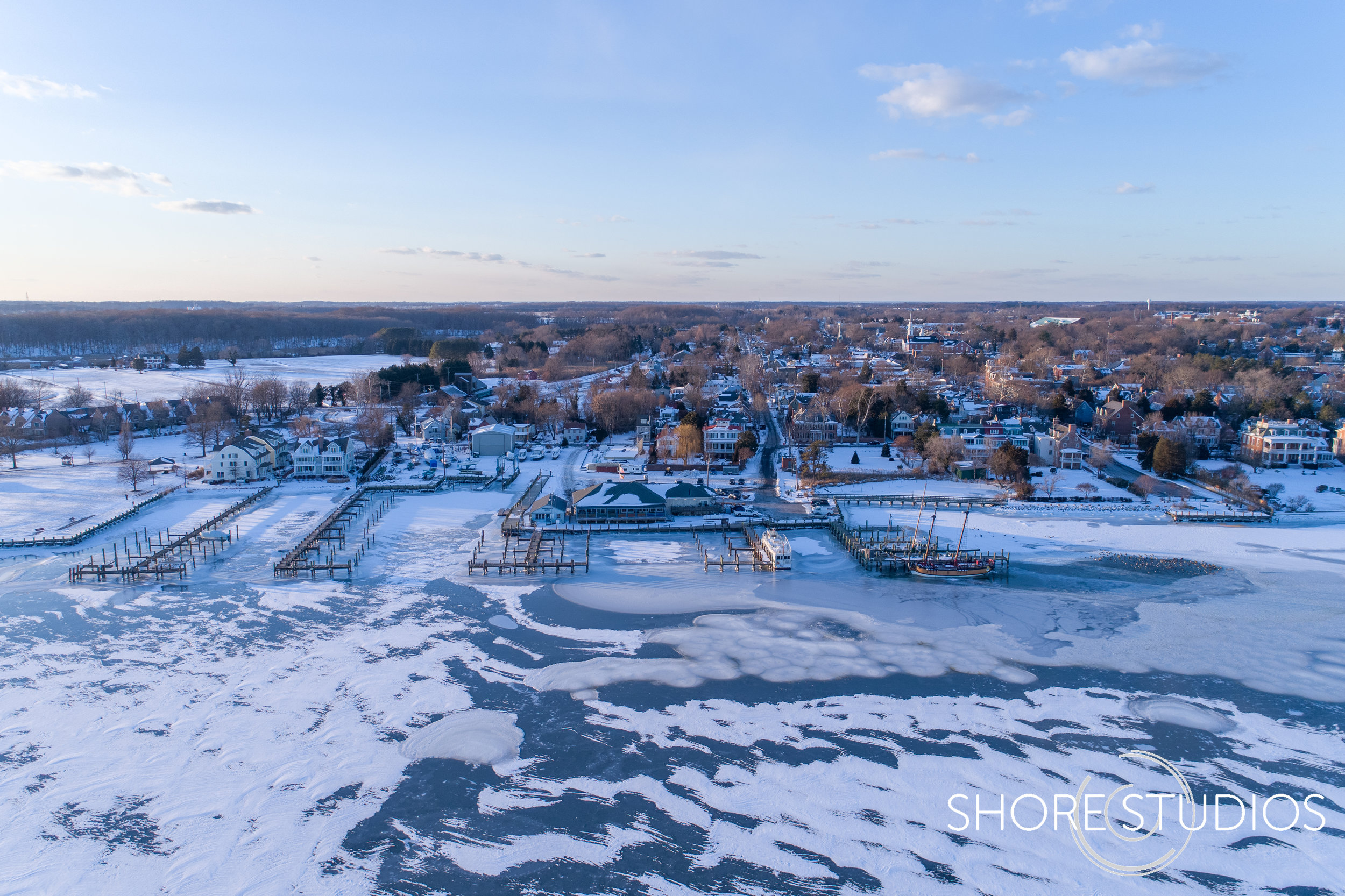 Aerial Photo of Chestertown and the Chester River