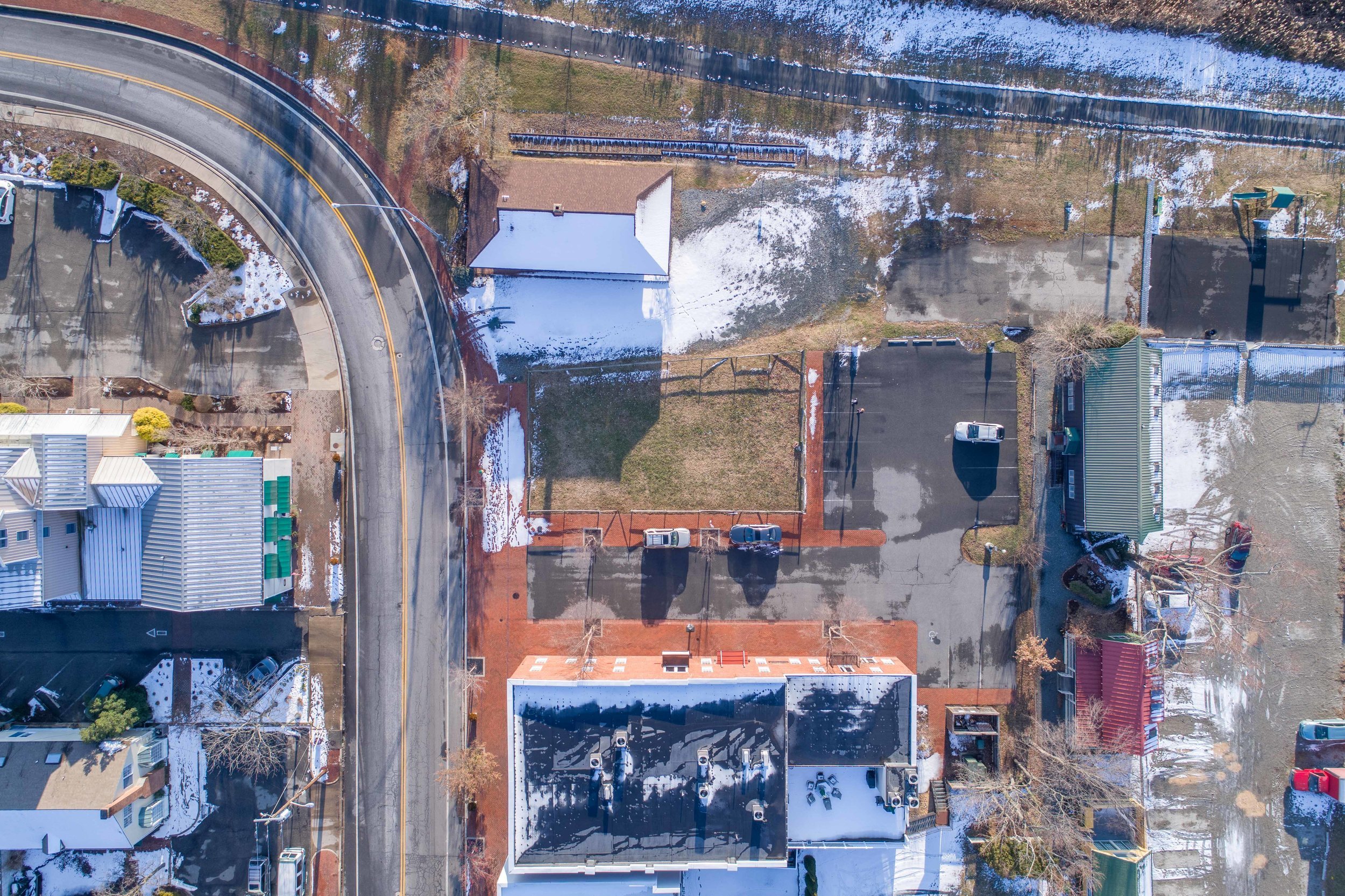 Aerial of Downtown Chestertown Lot for Sale 3