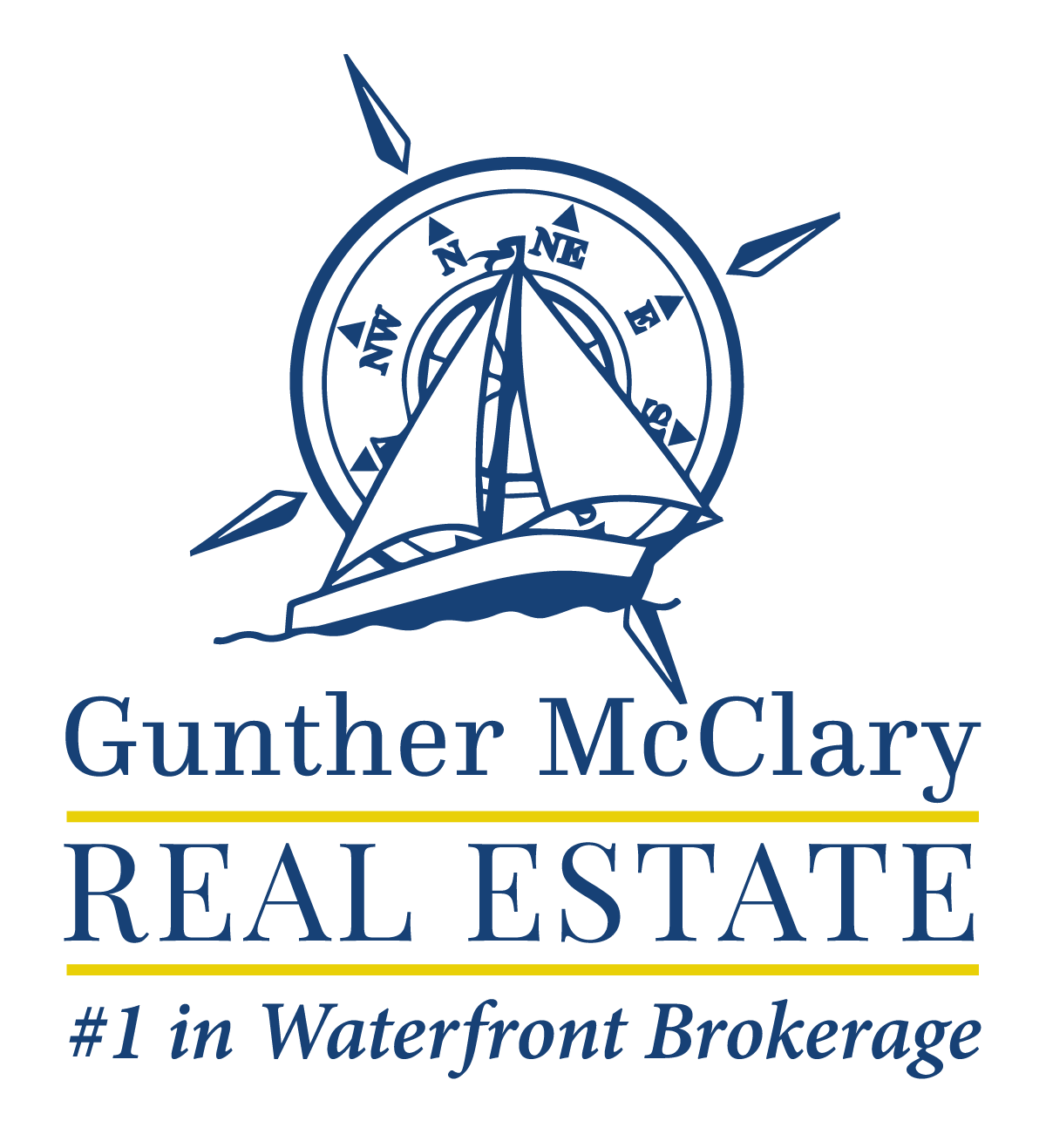 Gunther-Mcclary-Logo-Blue and Yellow with Transparent Background.png