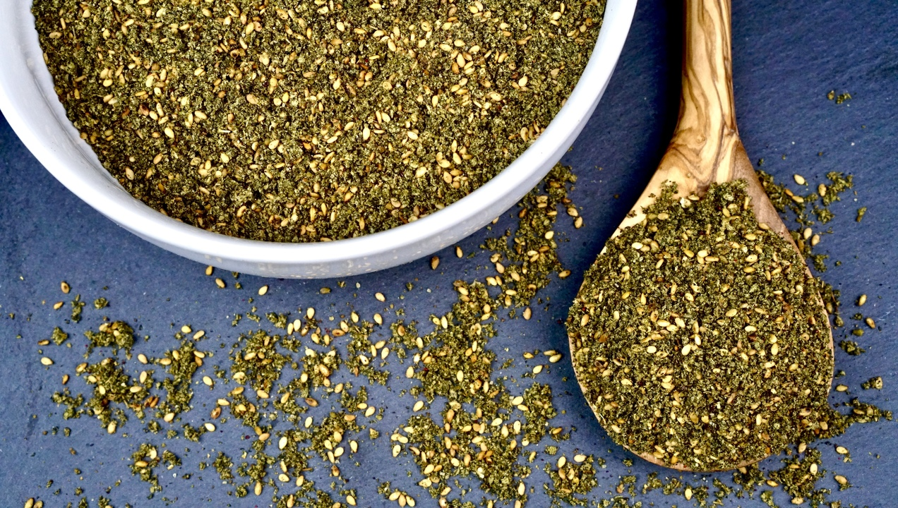 Za'atar is a versatile every day blend of herbs and spices that can be used as a dip with olive oil, a rub on proteins, or sprinkled on eggs and veggies as a seasoning.