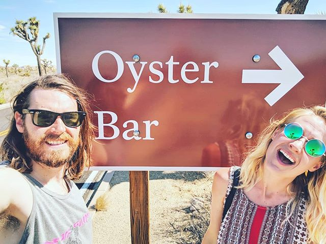 Hey look what we found in the desert! 🤔🌵🐚 #oysterbar #joshuatree #desertoysters #buthow #popupoysterbarontheroad
