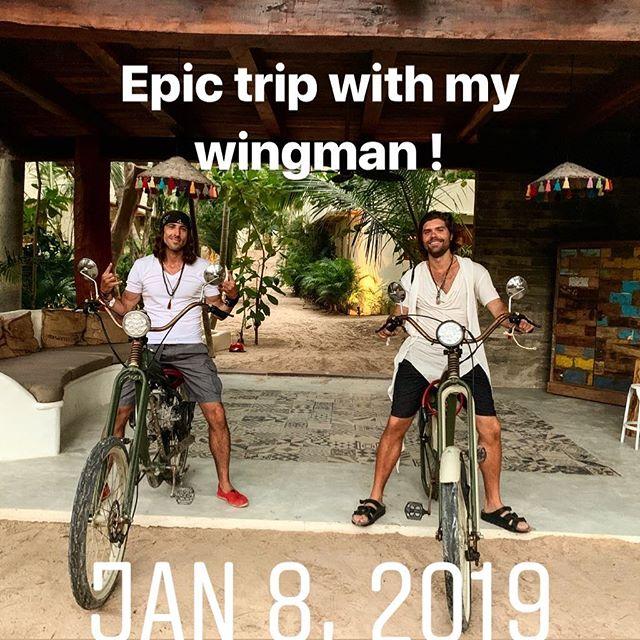 Riders on the storm ! #felipetarantino #tulum #wingman