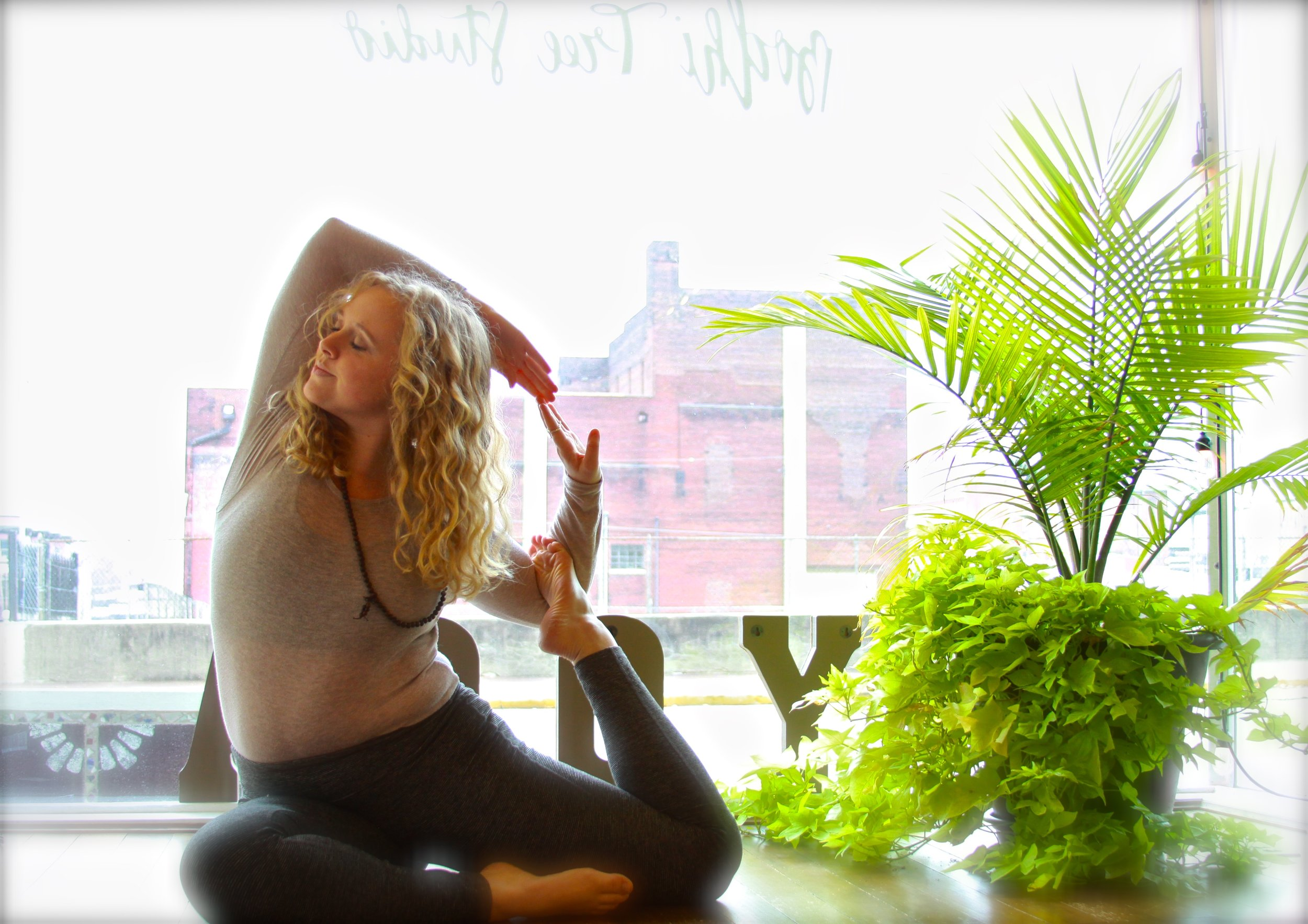 Haley Brown is a spirited yoga instructor who is always trying to bring new life to her practice through observing and learning from others. Through yoga, she has found unmatched calm and centeredness in her life, discovering tranquility through breath. Through teaching, she brings energy, fun, and accessibility to yoga, guiding others to find their center.   In her time spent off the mat, she enjoys being an engineer, keeping up with everything going on in the world, traveling all over the US, and spending time with her cat Justice.
