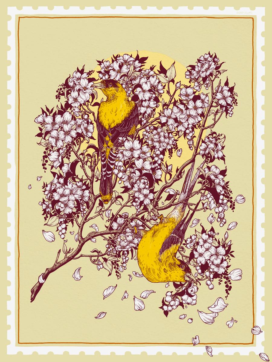 Goldfinch Stamp