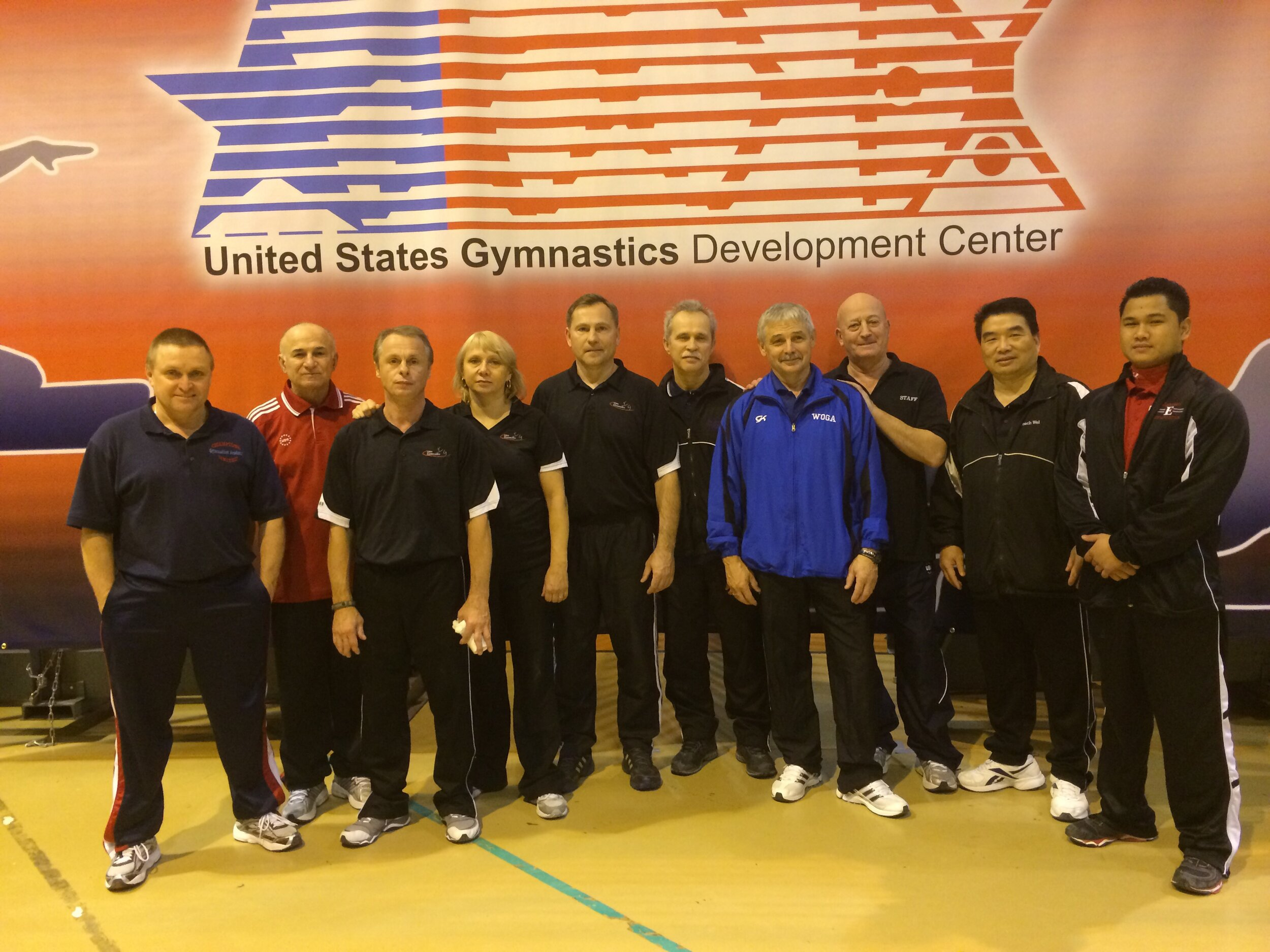 SOME OF THE ATTENDING GNYI COACHES