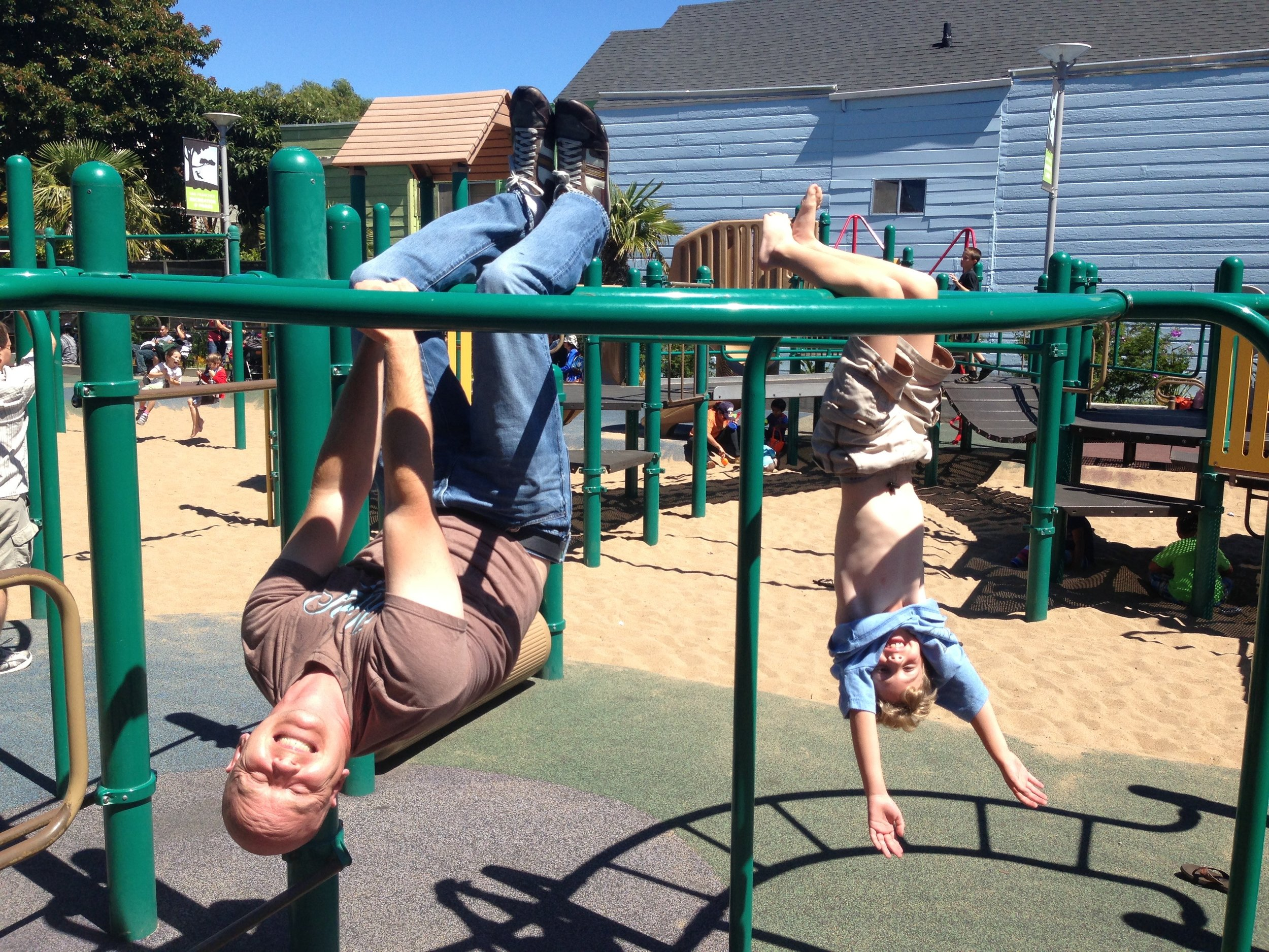monkeying around at mission playground