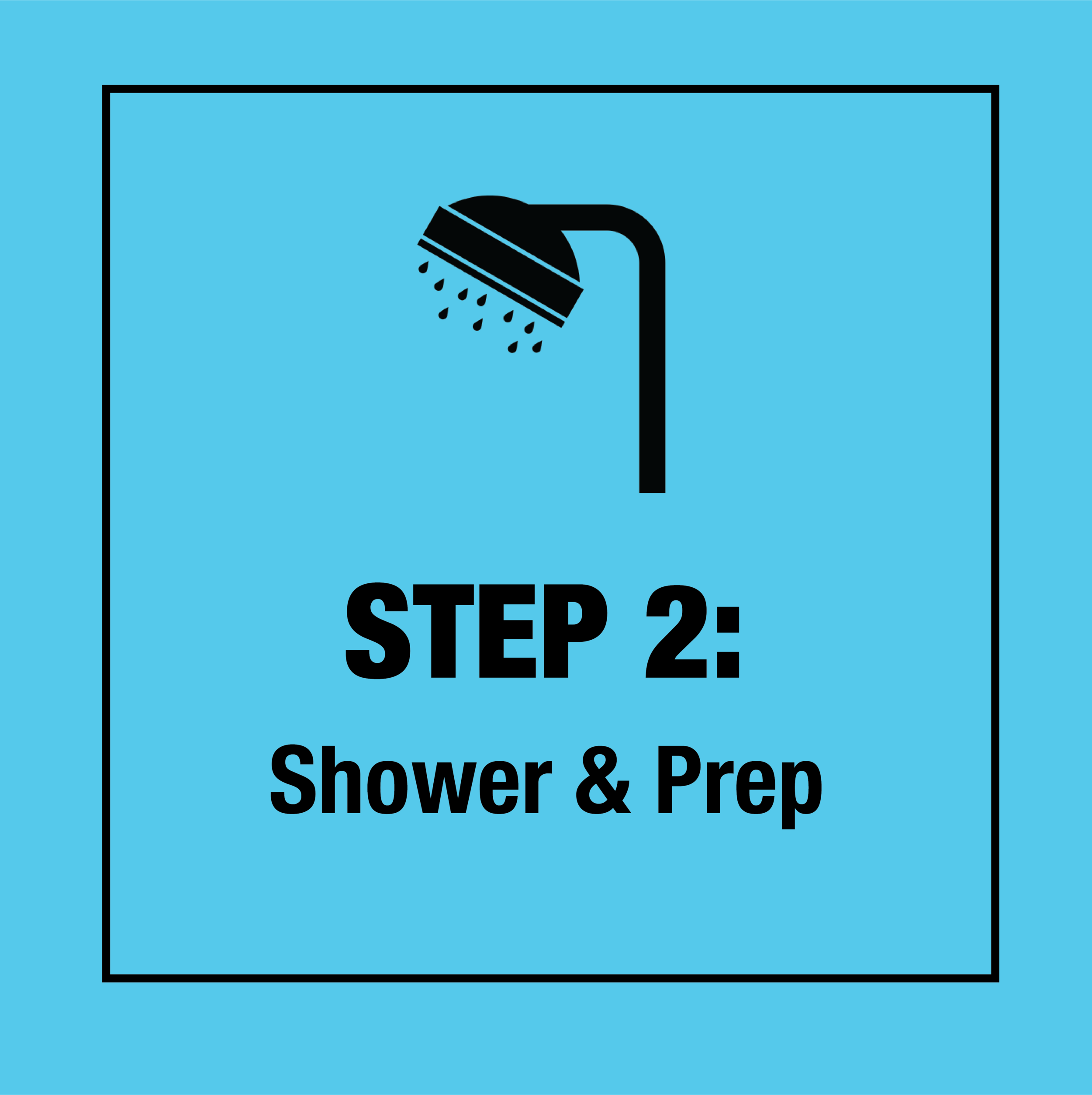 Shower, put in the provided wax ear plugs, and put vaseline on any scrapes or cuts.