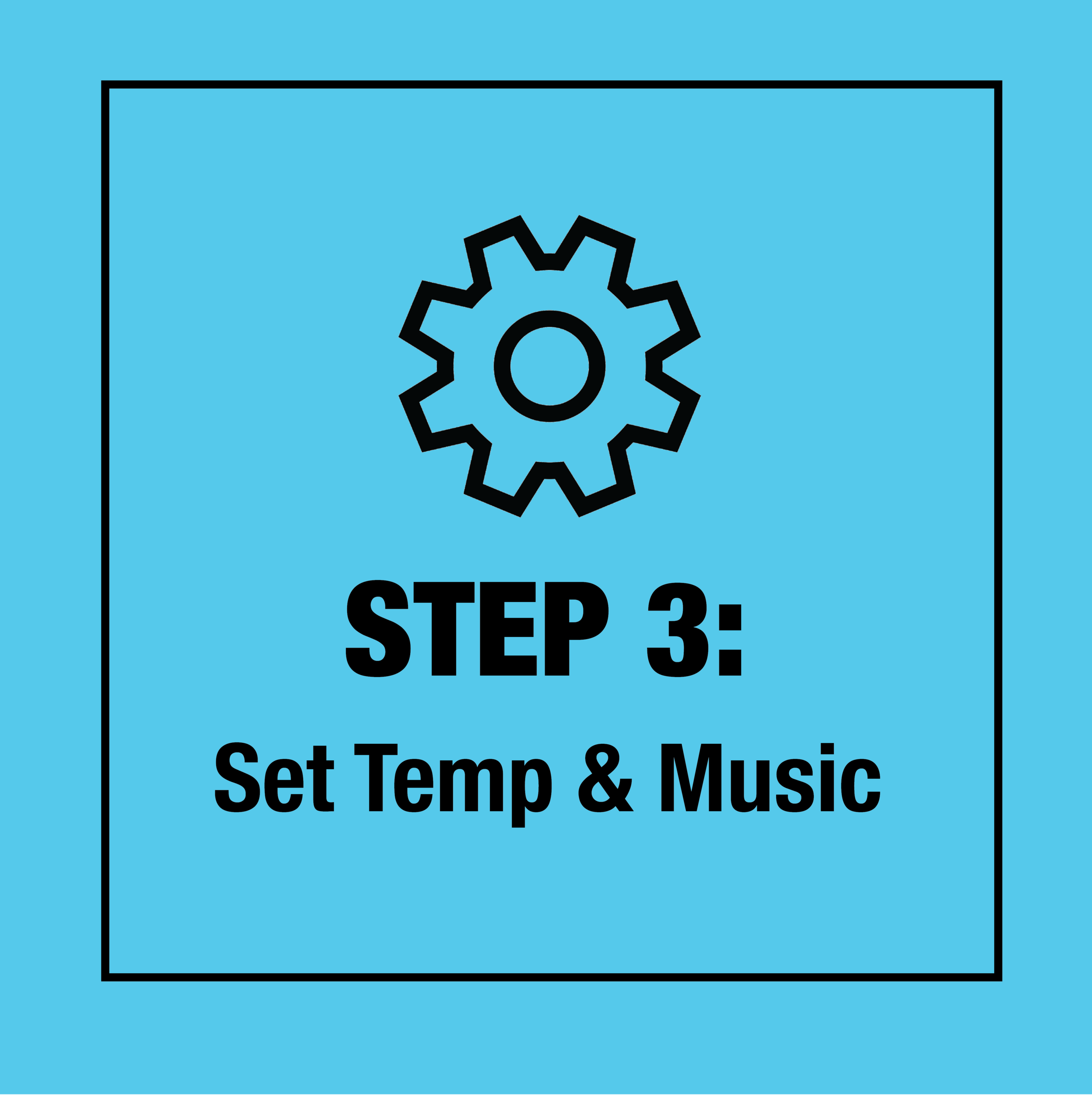 Choose your cold level and choose your favorite track to freeze to.